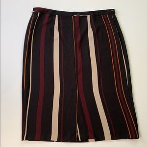 Who What Wear Skirts - Who What Wear • Striped Midi Pencil Skirt